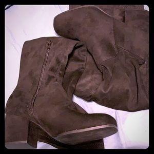 Christian Siriano thigh high boots